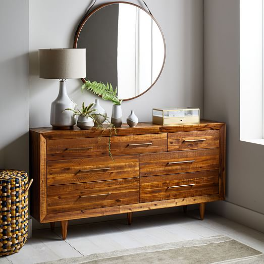 Alexa Reclaimed Wood 7 Drawer Dresser