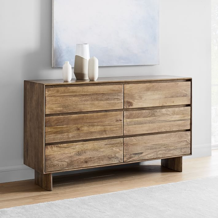Anton Solid Wood 6 Drawer Dresser