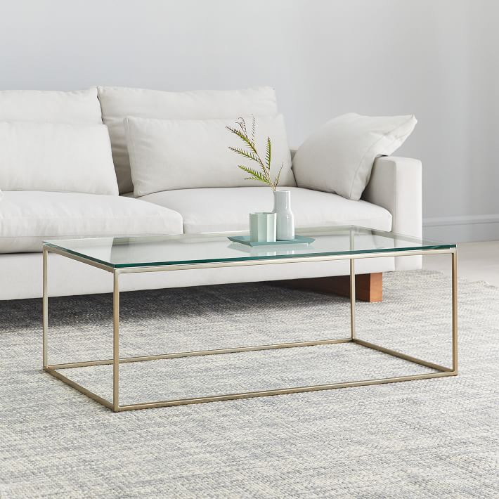Streamline Coffee Table - Glass/Metal