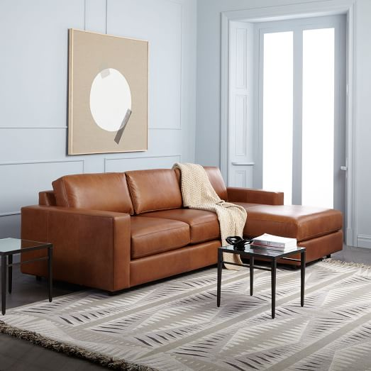 Urban Leather 2-Piece Chaise Sectional
