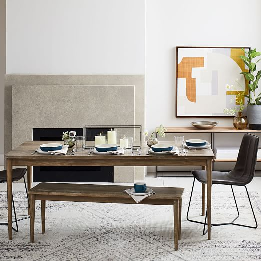 Modern Farmhouse Dining Table Cerused