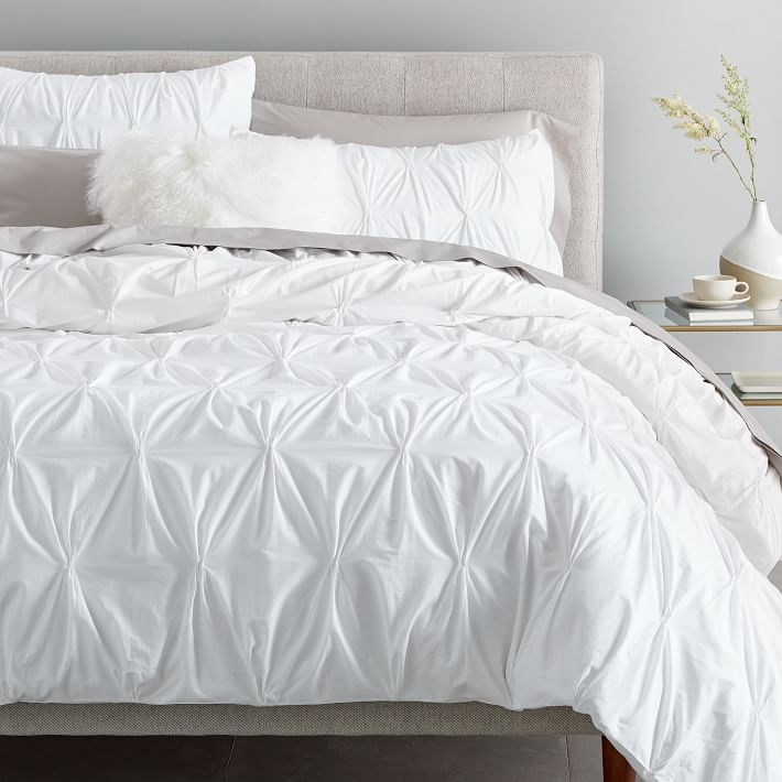 Organic Cotton Pintuck Duvet Cover & Shams