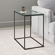 Coffee table with base in metal style origami and tempered glass ... | 180x180