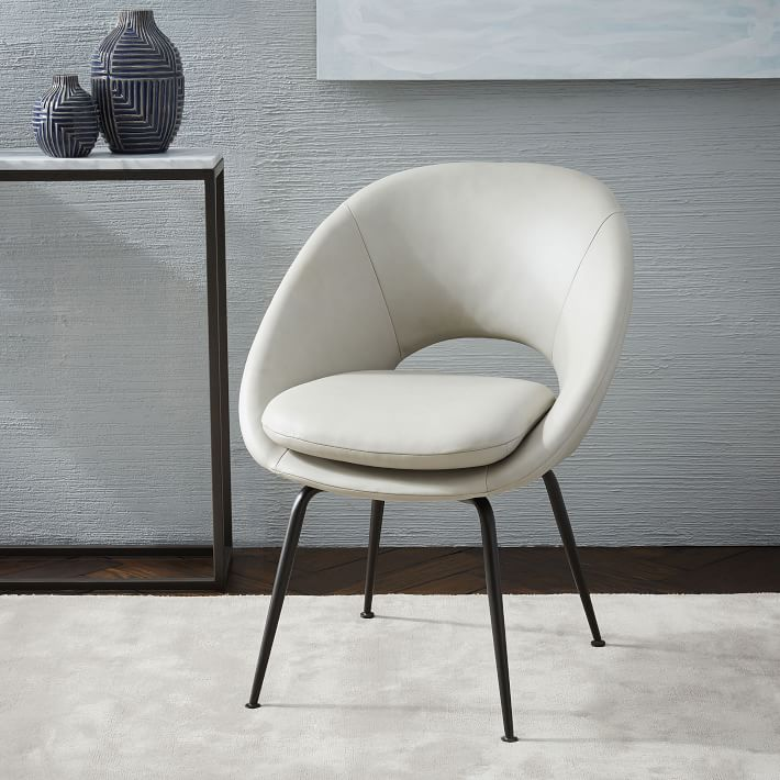 West Elm Orb Leather Dining Chair