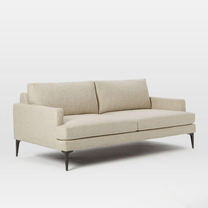 "Andes 76.5"" Sofa, Twill, Stone"