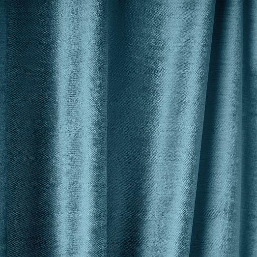 Cotton Er Velvet Curtain Regal Blue