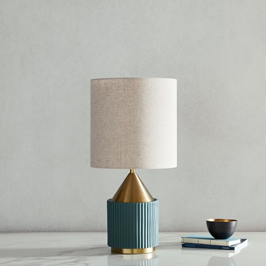 Modern Fluted Table Lamp Small