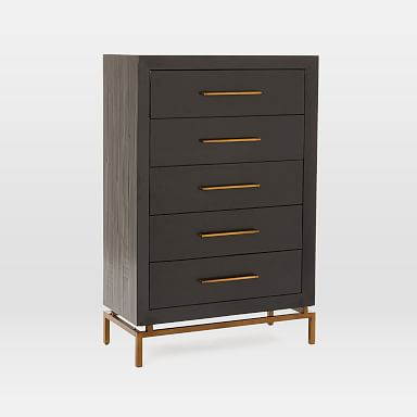 Alexa Burnished 5-Drawer Dresser