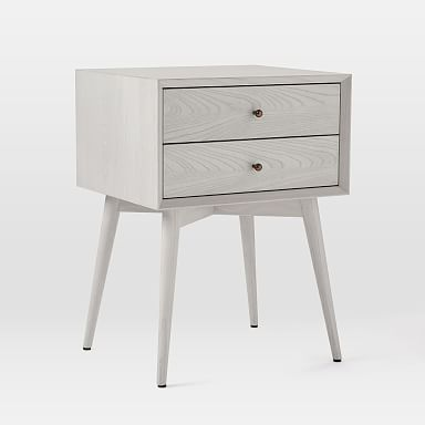 Mid-Century Nightstand - Pebble