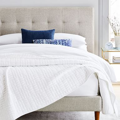 Cotton Cloud Jersey Blanket - Stone White