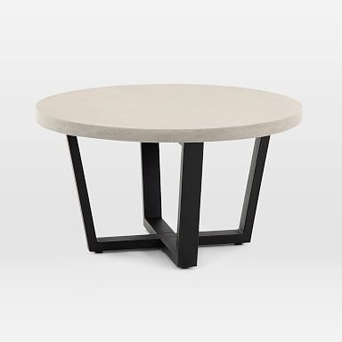 Slab Outdoor Round Coffee Table