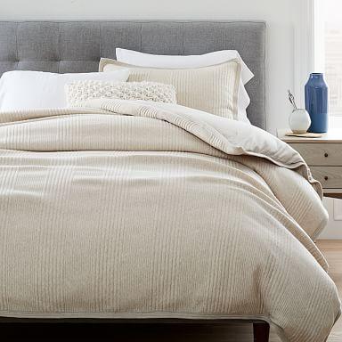 Cotton Cloud Jersey Duvet Cover & Shams - Oatmeal