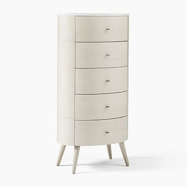 Penelope 5-Drawer Dresser - Feather Gray w/ Marble Top