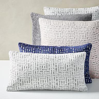 Allover Crosshatch Jacquard Velvet Pillow Covers