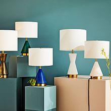 Metalized Glass Lighting Collection