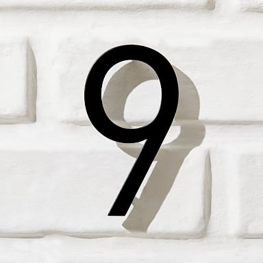 Modernist House Numbers - Black