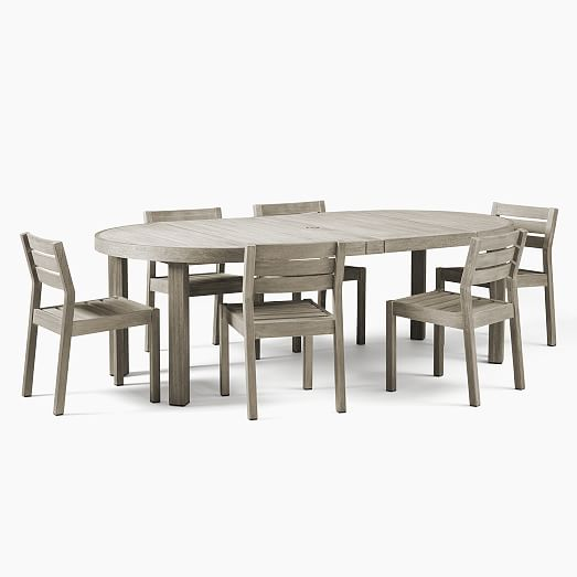Portside Outdoor Round Expandable Dining Table