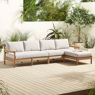 Playa Outdoor 3-Piece Chaise Sectional