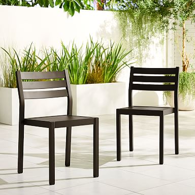 Portside Aluminum Outdoor Dining Chair (Set of 2)