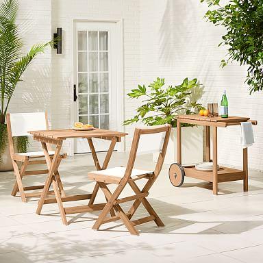 Playa Outdoor Folding Bistro Dining Set