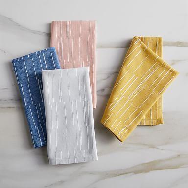 Fragmented Stripe Jacquard Napkins
