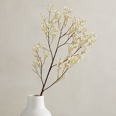Faux White Berry Branch