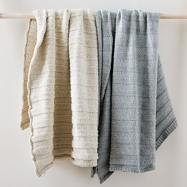 Speckle Ribbed Cotton Throw