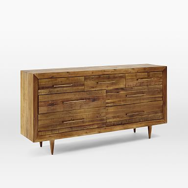 Alexa Reclaimed Wood 7-Drawer Dresser - Honey