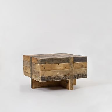 Emmerson® Reclaimed Wood Block Side Table