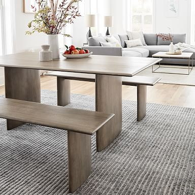 Anton Solid Wood Dining Bench - Graywashed