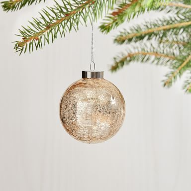 Glass Crackle Ornament