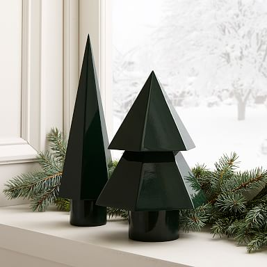 Modern Lacquer Tiered Trees