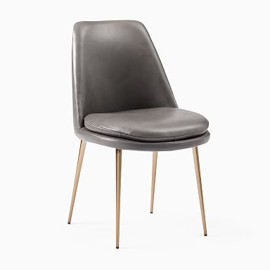 Finley Low-Back Leather Dining Chair