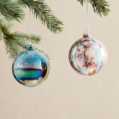 Marbled Multicolored Ball Ornaments