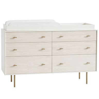 Modernist 6-Drawer Changing Table - White