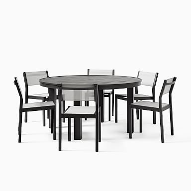 Portside Aluminum Outdoor Round Dining Table