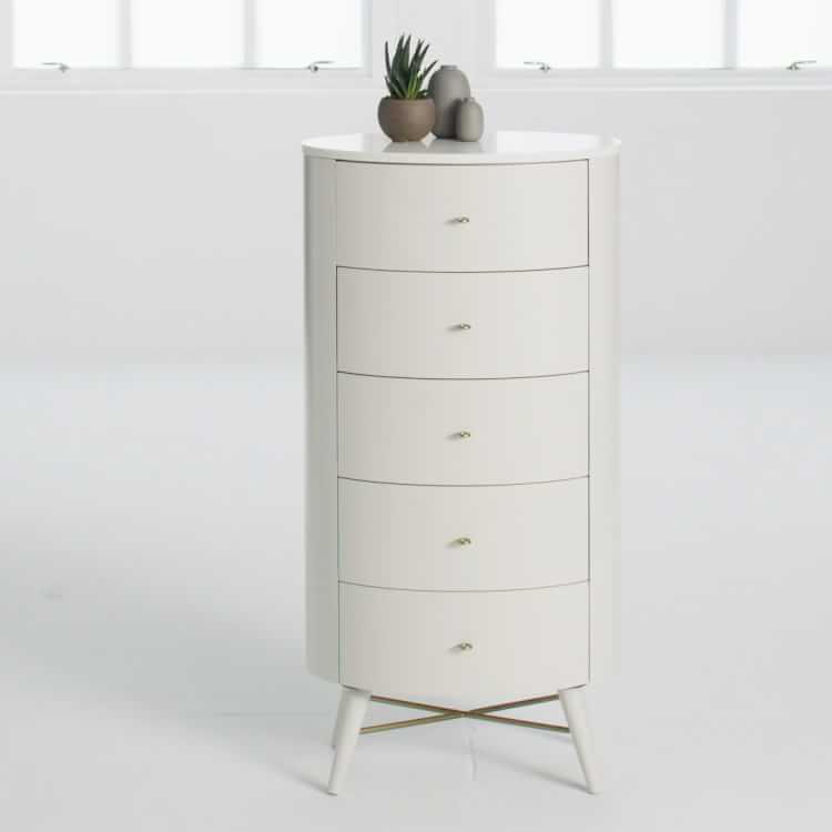 Penelope Narrow 5 Drawer Dresser