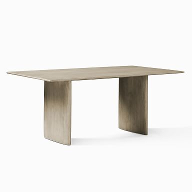 Anton Solid Wood Dining Table - Graywashed