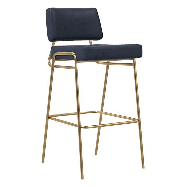 Wire Frame Leather Bar & Counter Stools