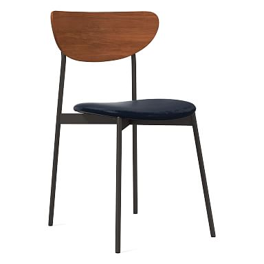 Mid-Century Modern Petal Dining Chair - Leather