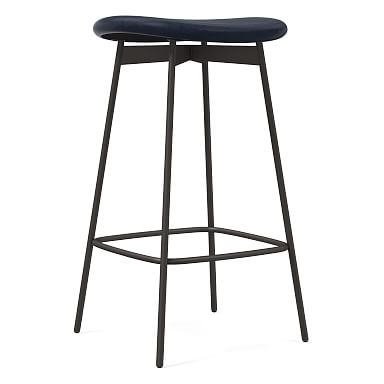 Modern Petal Backless Counter Stool - Leather