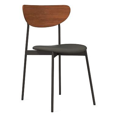 Mid-Century Modern Petal Dining Chair - Vegan Leather
