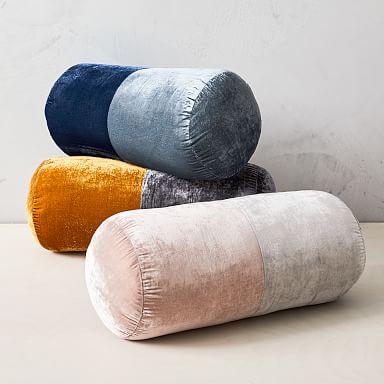 Lush Velvet Bolster Pillow