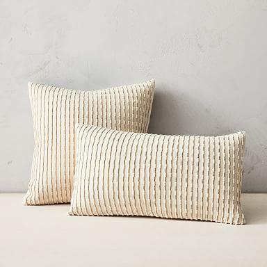 Corded Metallic Pillow Cover