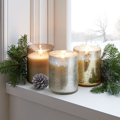 Etched Glass Candles