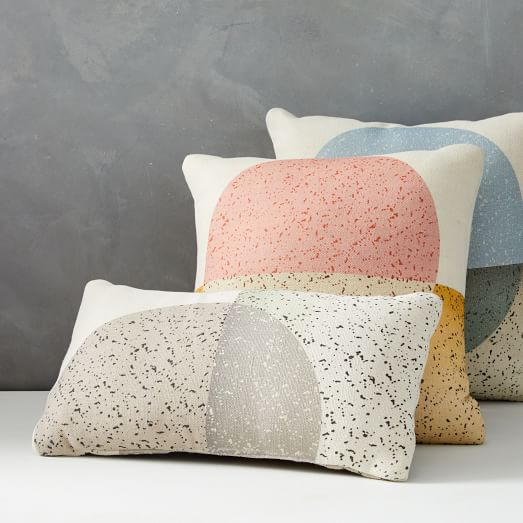 Outdoor Speckled Moon Pillow