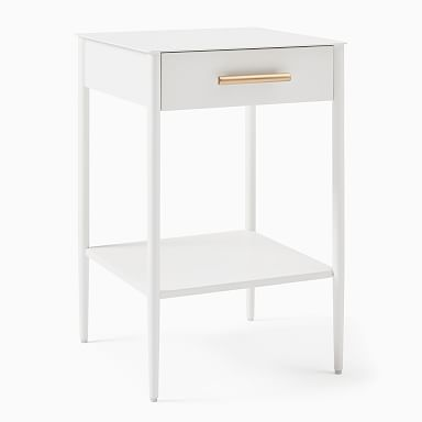 Metalwork Nightstand - White