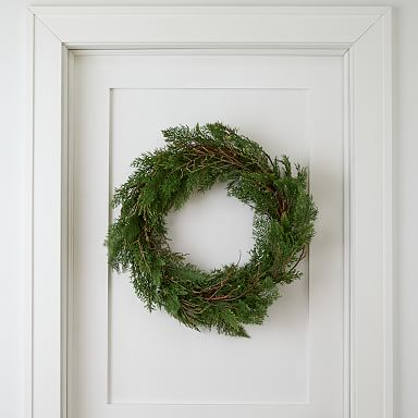 Faux Cypress & Juniper Wreath