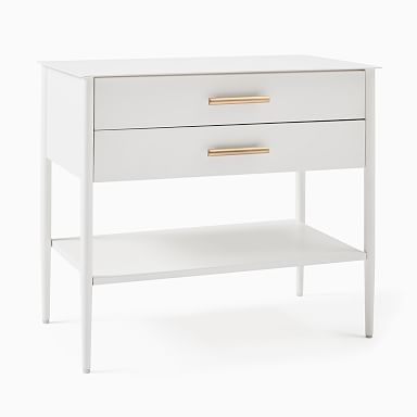 Metalwork Grand Nightstand - White