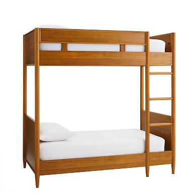 Mid-Century Twin Bunk Bed - Acorn